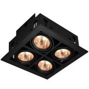 Точечный светильник CARDANI Arte Lamp A5930PL-4BK