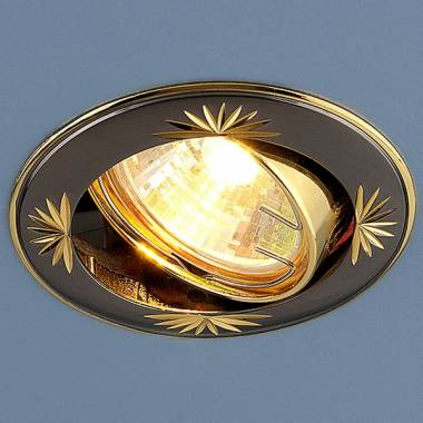 Точечный светильник Elektrostandard 104A MR16 GU/GD черный/золото Kolidora