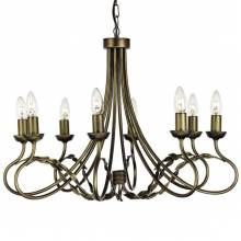 Люстра OLIVIA Elstead Lighting OV8 BLK/GOLD